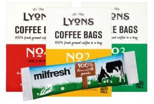 Lyons Coffee Bags & Milfresh Sticks