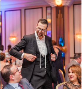 Chris Peskett wowed the guests...