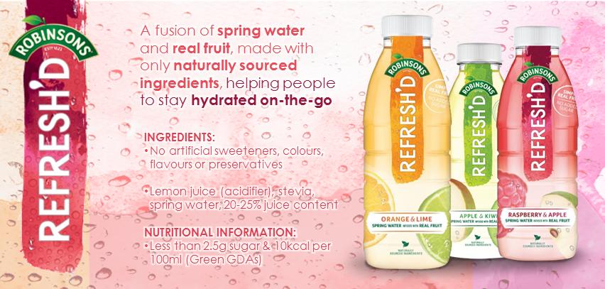 Britvic unveil an alternative source of refreshment through Robinson's Refresh'd!