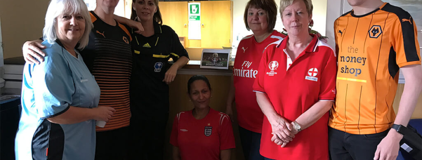 Donning the football shirts for Bradley Lowery.