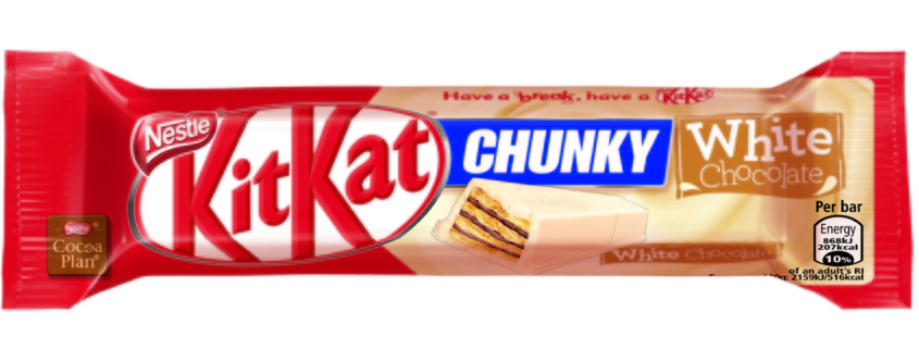 A warm welcome to the new WHITE KitKat Chunky.