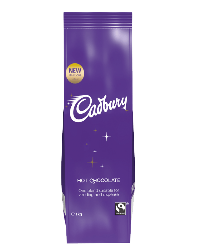 We provide big brands for our vending machines including Cadburys