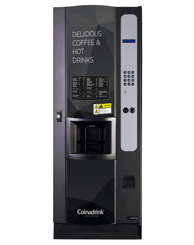 The Geneva is a practical floorstanding hot drinks machine.