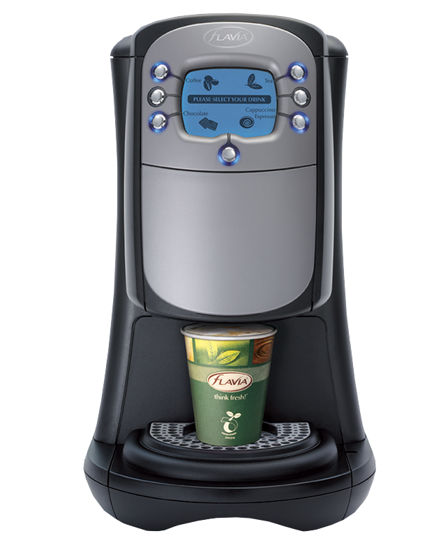 The Flavia 400 dispenses hot drinks with consistent quality.
