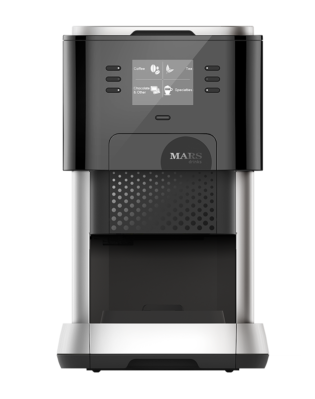 A slender tabletop hot drinks machine, the Flavia uses sachets for consistent quality.
