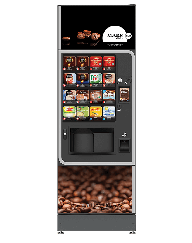 The Klix Momentum is a practical hot drinks machine with a rapid dispense time.