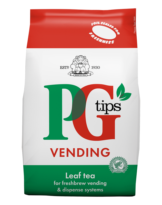 You can be sure of a great cup of tea from our vending machines with the likes of PG Tips.