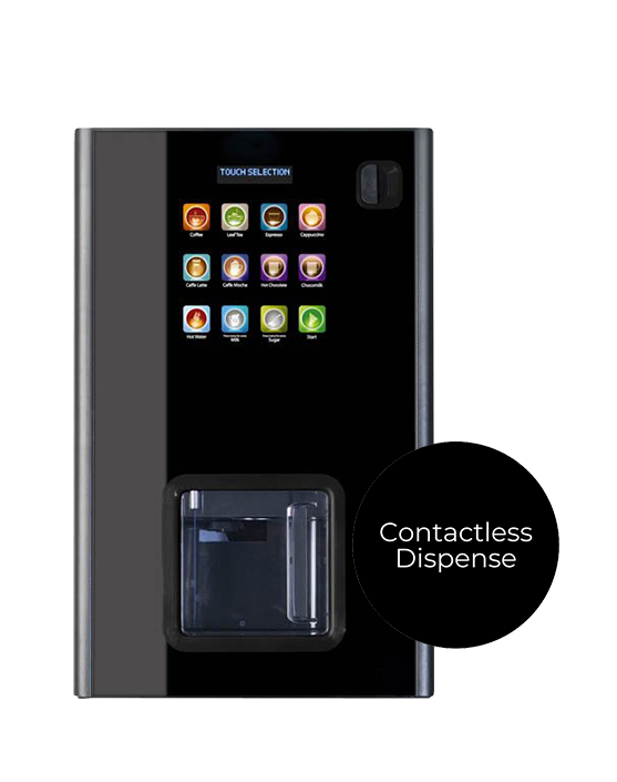 The Zen coffee machine offers a contactless dispense.