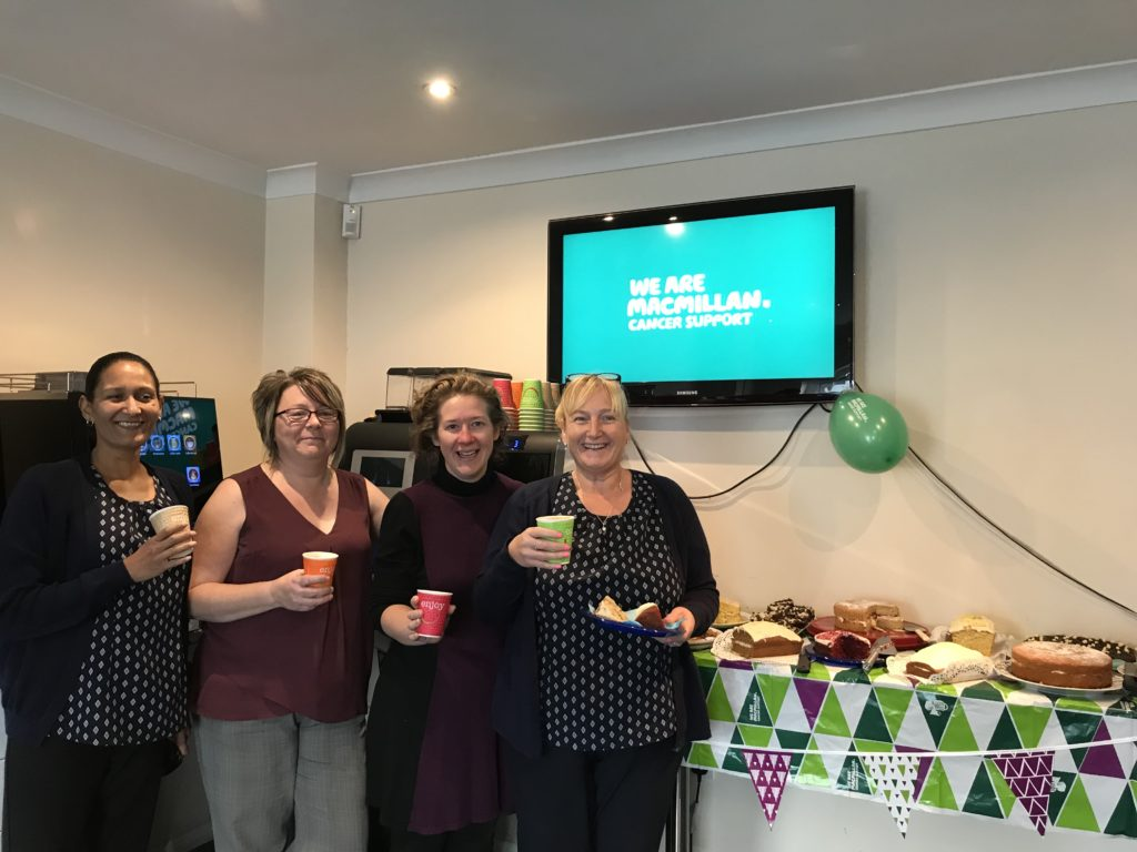 Coinadrink were delighted to support Macmillan coffee morning last September.