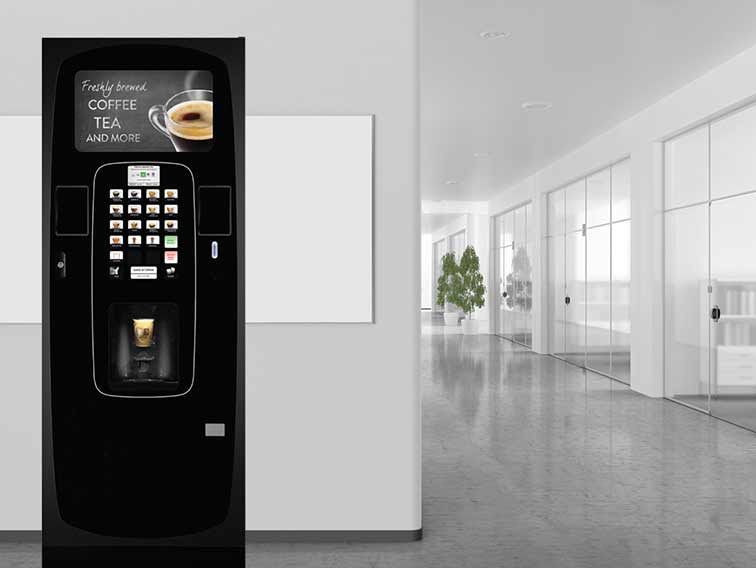 Icon hot beverage vending machine