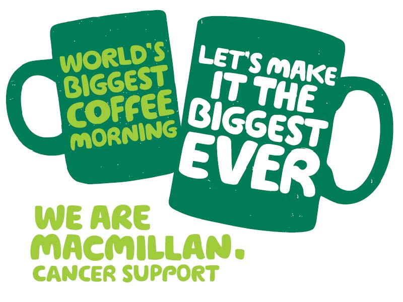 MacMillan Coffee Morning is set to be hosted on the 28th September 2018