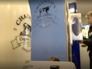 A fresh milk vending machine has launched in a Shropshire farm.
