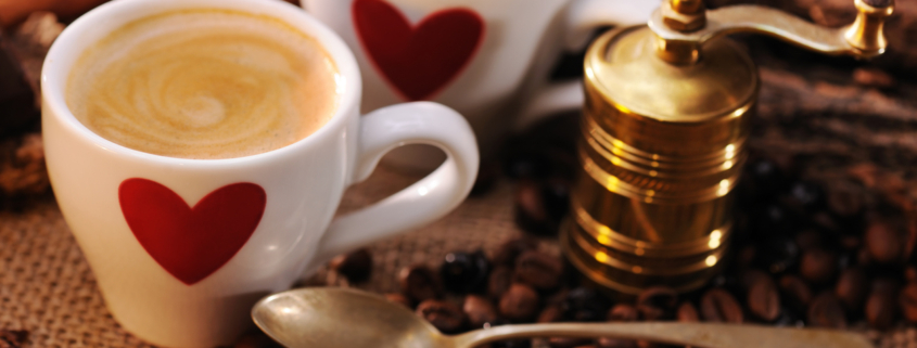 Fall in love with coffee again this Valentines Day...