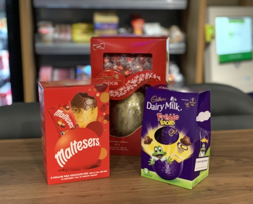 Take part in egg-citing Easter raffle to win three tasty Easter eggs!