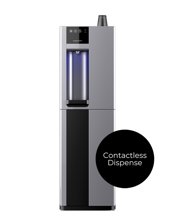 The Borg B3 water dispenser offers a contactless delivery.