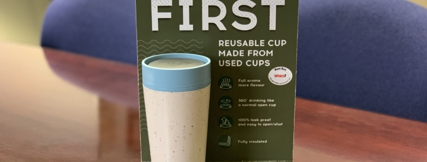 rCUP is the world's first reusable coffee cup made from used paper cups!