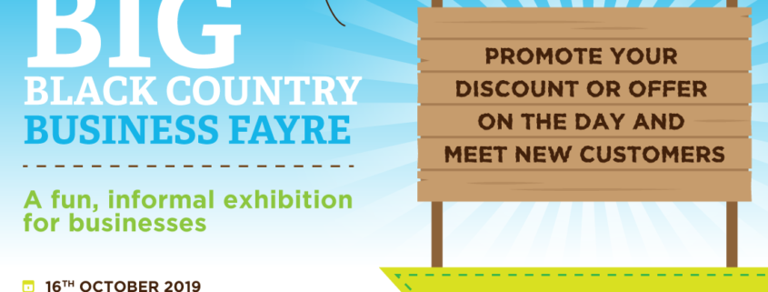 We will be attending The Black Country Business Fayre on Wednesday 16th October!