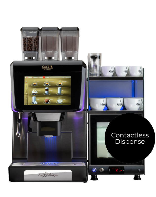 The La Radiosa contactless coffee machine from Coinadrink.