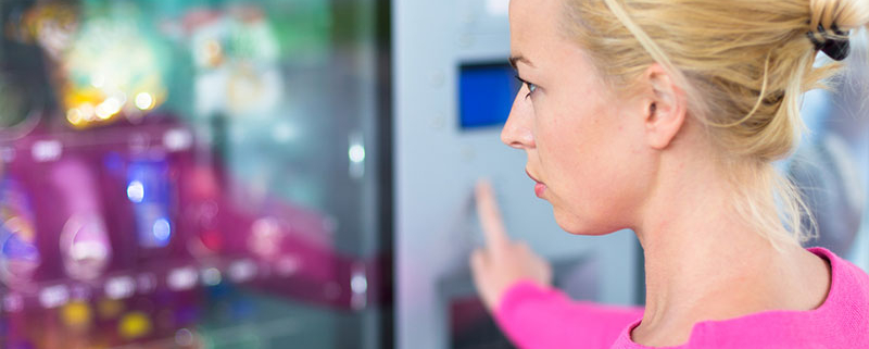 Healthier eating from a vending machine.