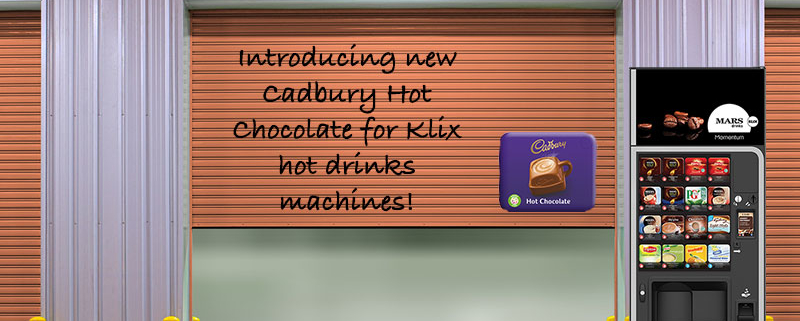 Cadbury Hot Chocolate now available in Klix hot drinks machines!