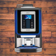 The Krea Prime is a stunning coffee machine that delivers fresh bean coffee to your workplace.