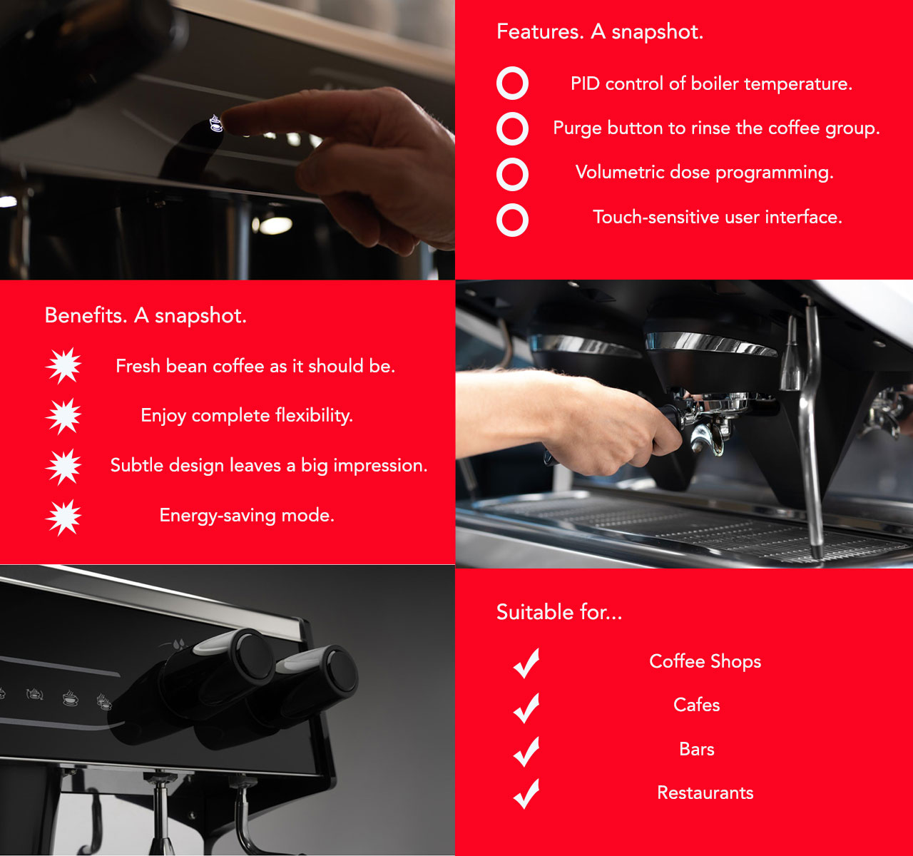 La Decisa traditional coffee machine is perfect for the catering and hospitality industry.