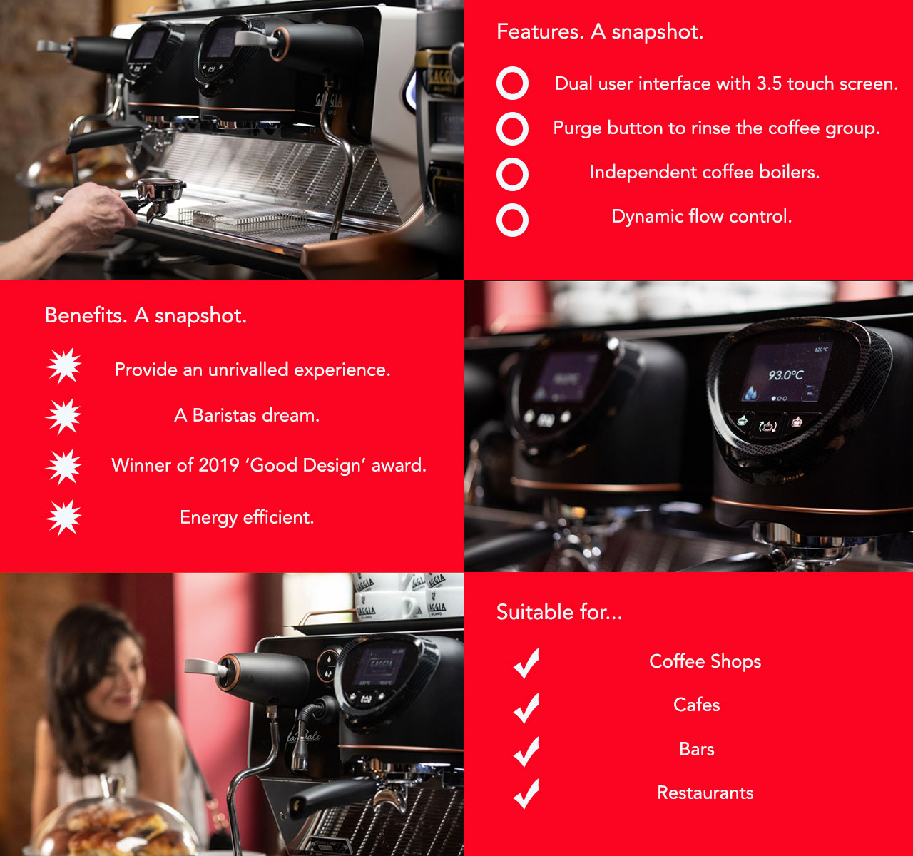 The Gaggia La Reale traditional coffee machine offers everything you need and more for your coffee shop or similar environment.
