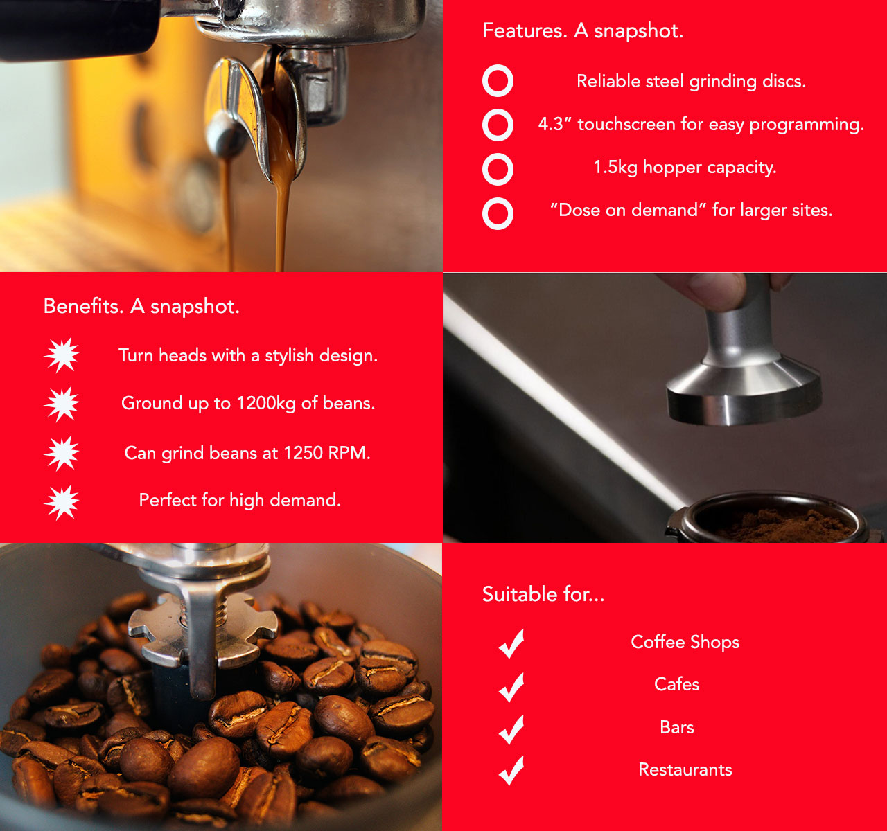 The Quality espresso Q10 coffee bean grinder offers advanced features for the modern day coffee shop or similar environment.