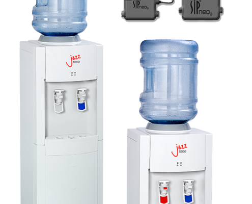 The AA First Jazz 1100 Bottled Water Cooler delivers self-sanitising, contactless technology in two different sizes.