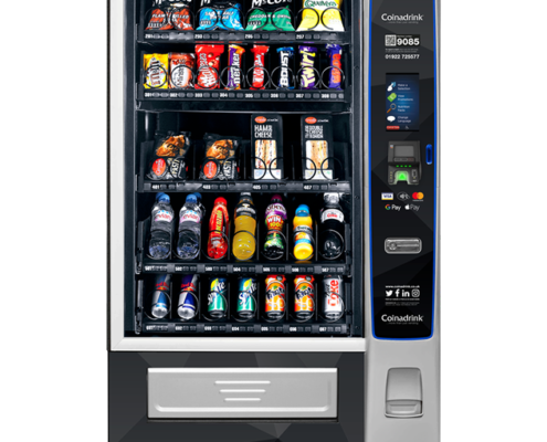 The Merchant 4 snack and cold drinks vending machine provides a variety of configurations.