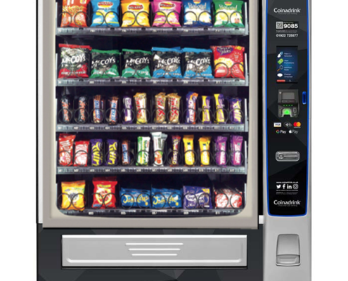 The Merchant 6 snack vending machine provides a variety of configurations.