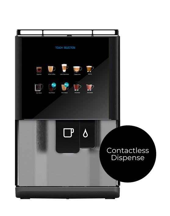 Vitro S tabletop coffee machines with contactless dispense.
