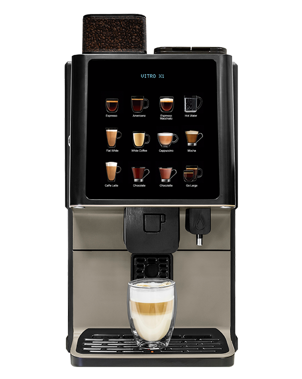 The Vitro X1 MIA fresh milk coffee machine.