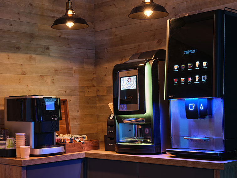 Stylish tabletop coffee machines from Coinadrink Limited, a leading vending West Midlands vending supplier.