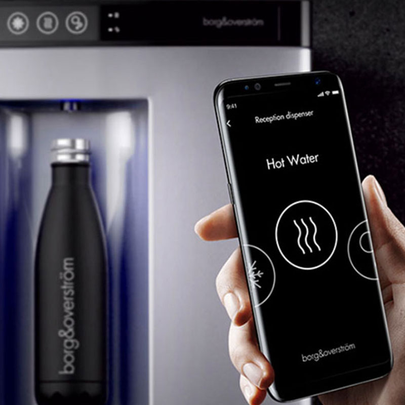 Enjoy a mains fed water cooler with a contactless dispense.