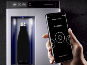Plumbed in water coolers from Coinadrink Limited are stylish and advanced, with contactless equipment available.