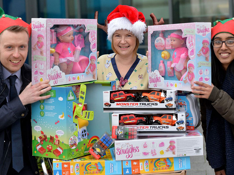 """Coinadrink is helping to bring a festive smile to children at our local hospital, through Well Wishers' """"Christmas Wish List"""" programme."""