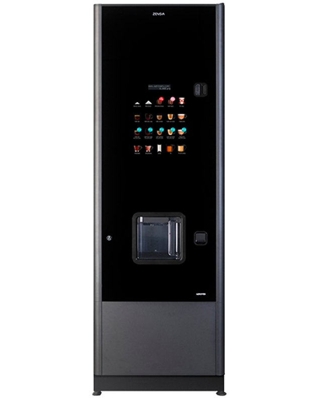 The Zensia hot beverage machine from Coinadrink Limited the vending company.