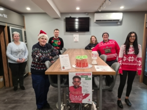 Christmas Jumper Day continued at Coinadrink, with a reduced number of staff taking part. And we raised over £28 for Save the Children!