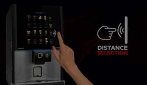 Now you can vend your hot drink without interacting with your equipment thanks to contactless Distance Selection!