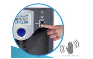 Enjoy a contactless water dispense with the AA First Arctic Chill 88 CL2 plumbed-in water dispenser.