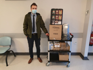 We supported our local Walsall Manor Hospital for refreshment supplies during the second National lockdown.