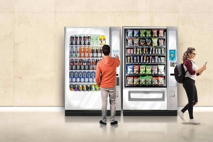 The Media 2 touchscreen user interface would provide an enhanced vending experience for the BevMax and Merchant vending machines.