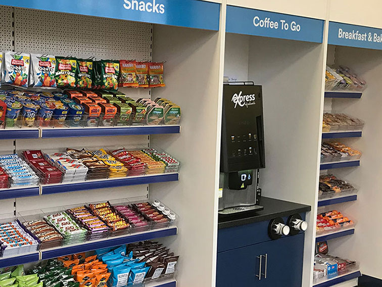 A Micro Market is your very own refreshment hub tailored to your workplace.