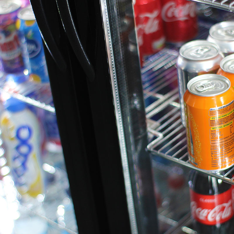 Cold cans, bottles, milkshakes and more in your Micro Market.