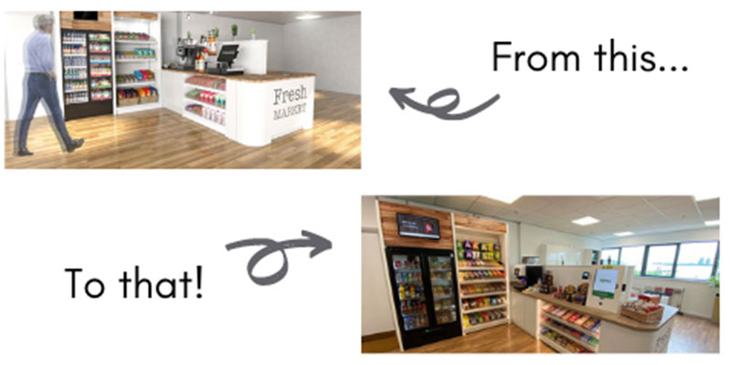 We will firstly create a mockup of your Micro Market.