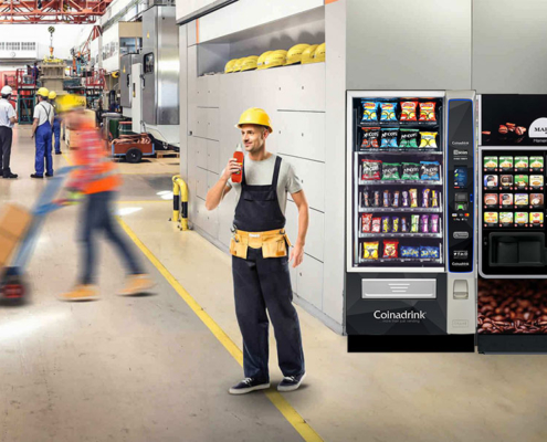 Hassle-free vending services perfect for the manufacturing industry.