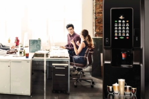 A vending machine is a great way to encourage stronger workplace relationships.