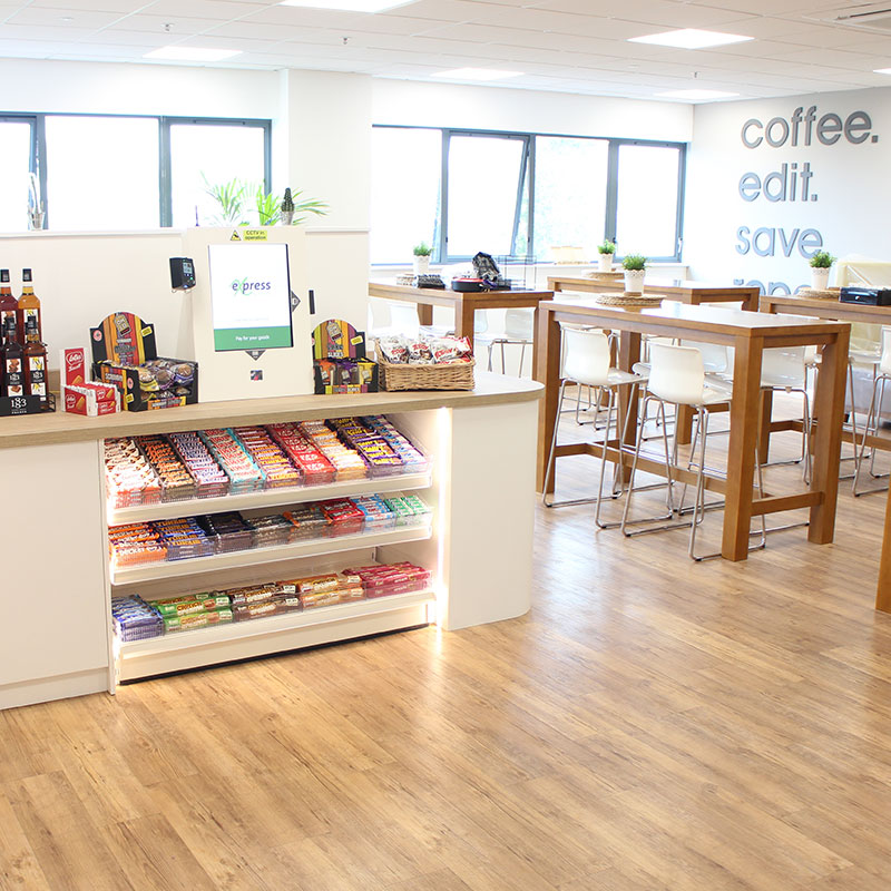 The Micro Market promotes higher levels of workplace wellbeing.