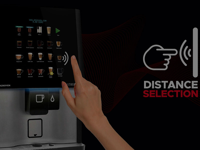 You can buy vending machines and water dispensers from us that offer a contactless dispense.